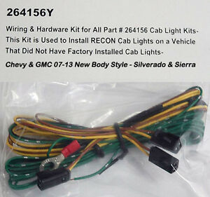 silverado wiring harness ebay 2007 2013 chevy silverado gmc hd recon 264156 cab roof light oem  recon 264156 cab roof light oem