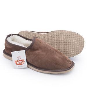 13f311f837c 100% Sheepskin Slippers for Men   Rubber Sole.Best Quality on eBay ...