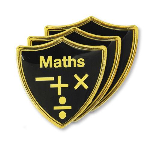 /'Maths/' Subject Shield School Badge