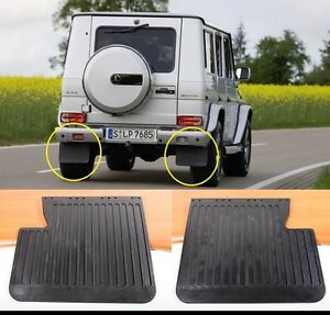 Mercedes benz g wagon pair x 2 rear mud flaps guards w463 for Mercedes benz g500 parts accessories