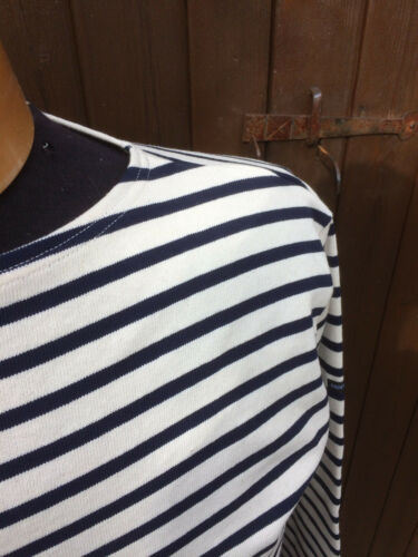 algodón guildo y azul bretona rayas Camisa a 100 marino Saint de James de crema wfHqIO