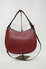 40ec3df22f Coach 54446 Nomad Crossbody Hobo In Glovetanned Leather Cherry Red Color  -NWT! Coach 54446 Nomad Crossbody Hobo In Glovetanned Leather Cherry Red  Color