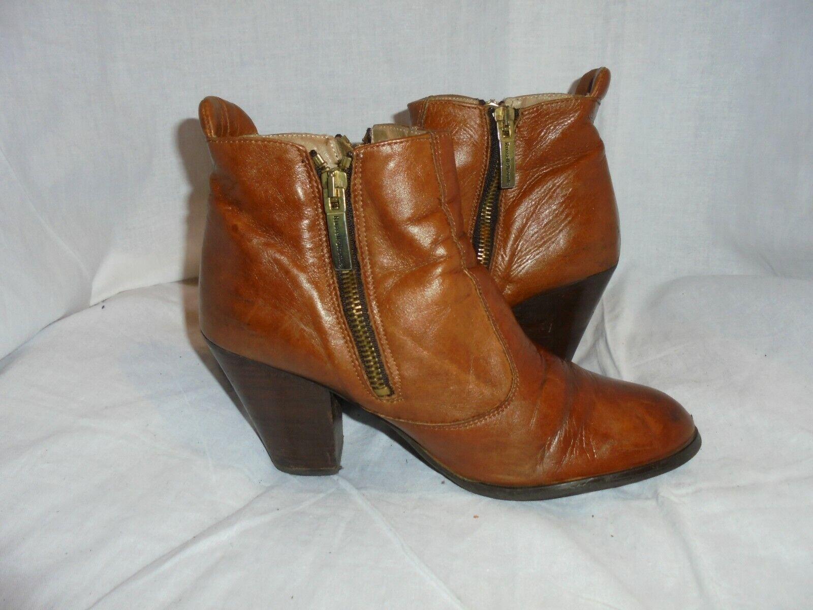 Camper K400228-003 Wanda Brown Leather Zip Ankle Boot Shoe