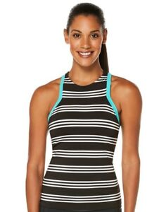 JAG-Harbour-Striped-Swimsuit-High-Neck-Racerback-Tankini-Top-NWT-4-6-Small-S