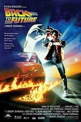 BACK TO THE FUTURE MOVIE POSTER - MICHAEL J FOX - 24X36