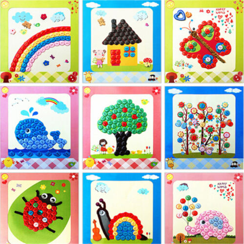 DIY Button Drawing Painting Interactive Material Kids Educational Toys LY