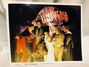 Halloween Horror Nights Press Kit Photo Dracula Bride Frankenstein Mummy 8 x 10