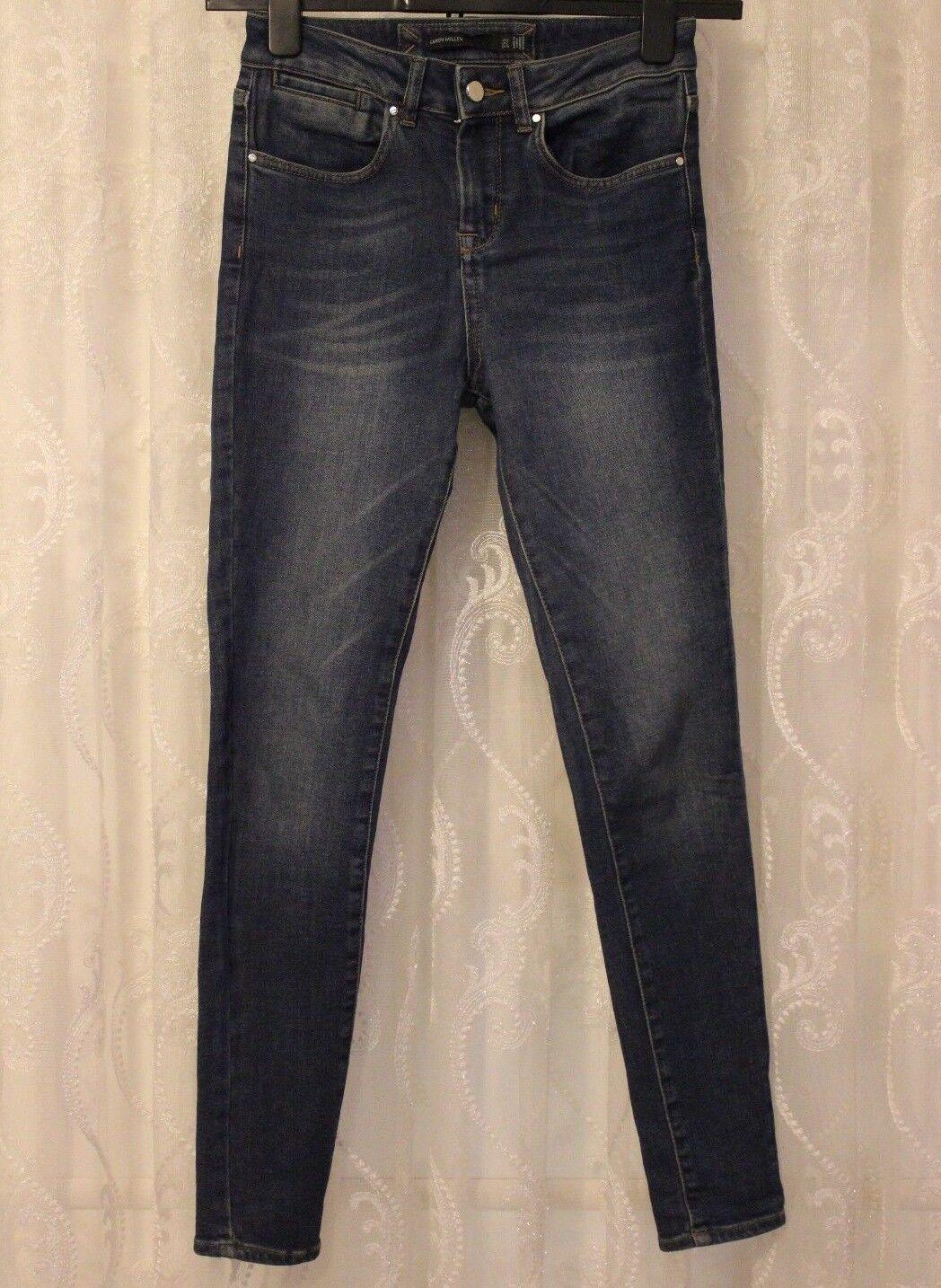 Karen Millen blu blu blu skinny stretch dritto Cotone Jeggings Pantaloni Jeans 9f4bd5