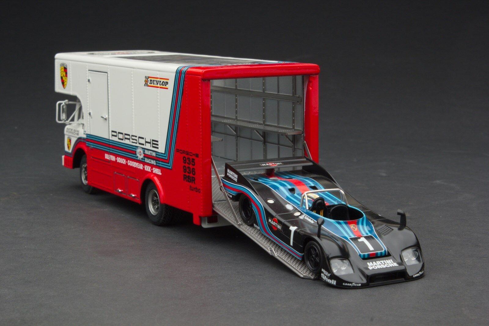 Exoto 43   Martini Porsche Course Transporteur Voiture   1 43    Exo00014