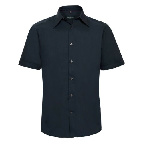 """Russell Collection Short Sleeve Fitted Shirt 955M Navy 14.5/"""" 16//16.5/"""" NEW!"""