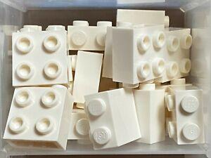 Lego 20 x White Bricks 1 x 2
