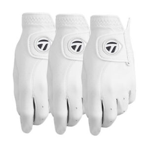 TaylorMade-Tour-Preferred-Custom-Leather-White-Golf-Gloves-3-Pack-Pick-Size