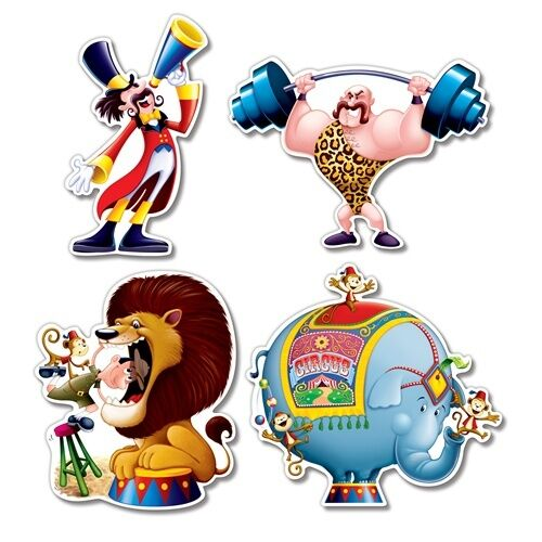 "4 Circus 14"" CIRCUS SHOW Big Top Tent Carnival Party Decoration"
