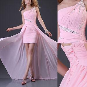 rosa highlow lang hearzen abendkleider ballkleider party kleid festkleid 3246  ebay