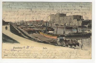 Hafen GemäßIgt Ak Mannheim 1903 Um Jeden Preis