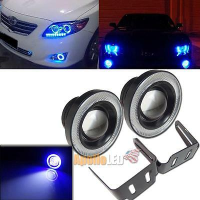2pcs 3.5'' High Power Blue COB Angel Eye Halo Rings Projector LED Fog Light Lamp