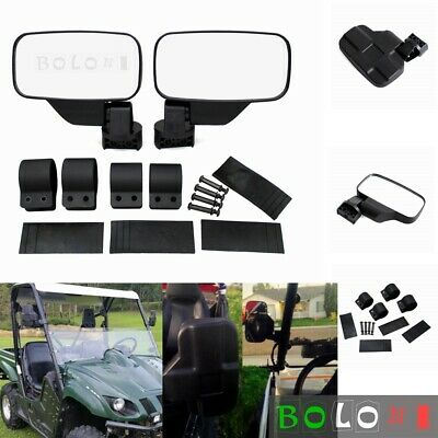 Fit All UTV 1.75 Inch OD Bar RZR XP900 XP1000 UTV Side /& Rear View Mirrors kit