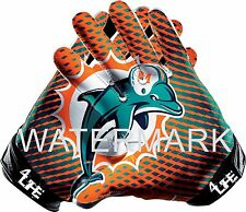 """Miami Dolphins 4life 6"""" Auto Window or Wall Vinyl Glossy Gloves Stickers Decal"""