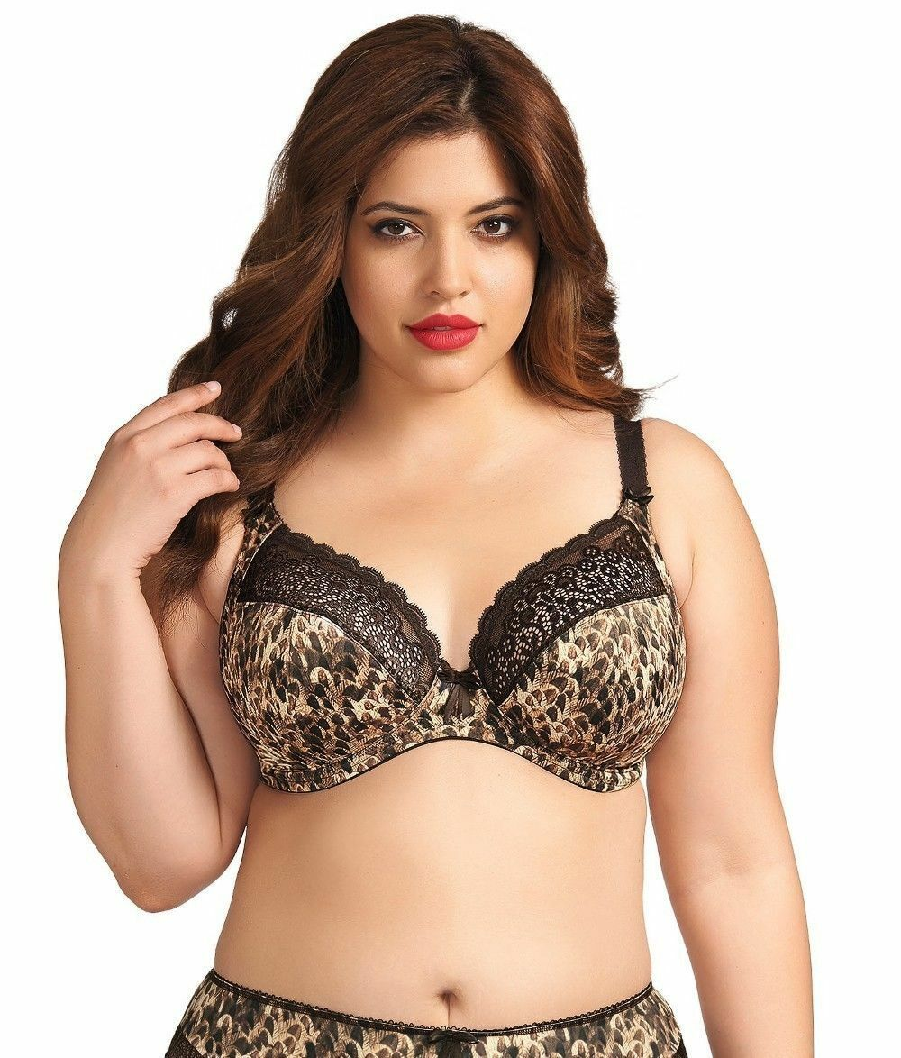 Elomi Lexi Side Support Plunge Bra EL8870 Java Animal Print