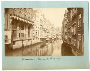 Nederland-Pays-Bas-Rotterdam-Vintage-albumen-print-Tirage-albumine-10x18