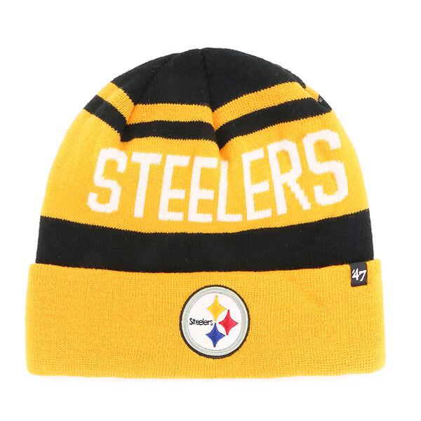 Pittsburgh Steelers 47 BRAND Knit Hat Beanie Rift Cuff  32ee2e3e13b