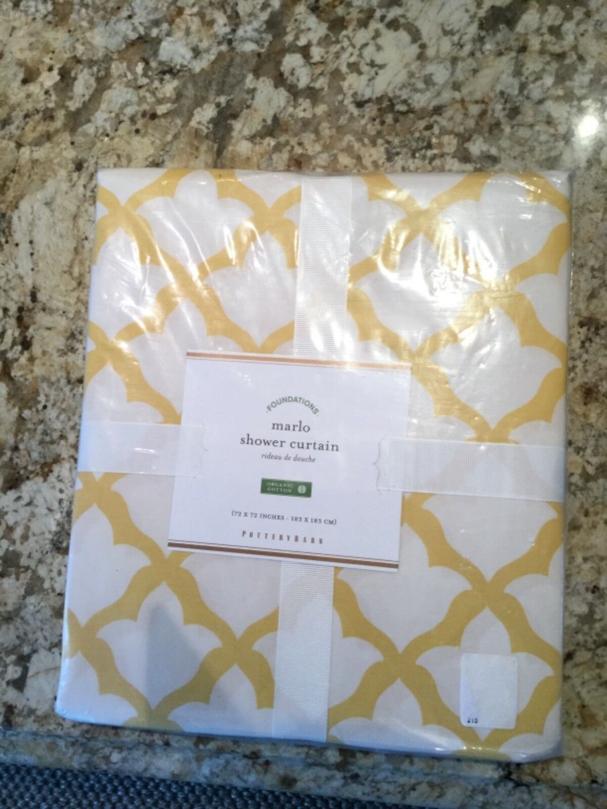 Home Garden Pottery Barn Marlo Organic Shower Curtain