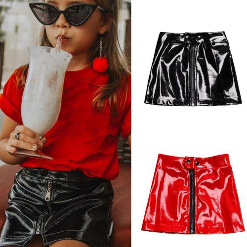 Kids Infant Baby Girls Skirt Princess Sequins Mini Skirt Zipper Outfits Clothes