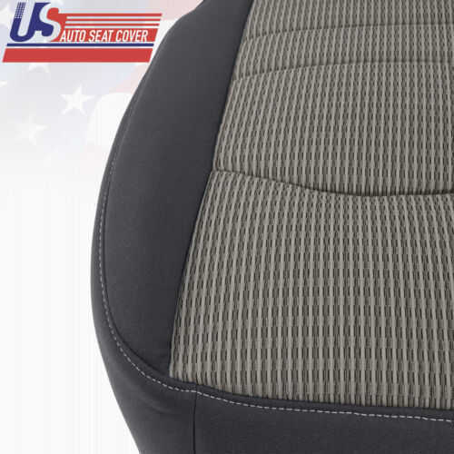Driver Side Bottom Leather Seat Cover Black 2011 2012 Dodge Ram Laramie Limited