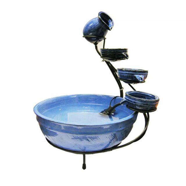 Ubbink Acqua Jeu de pots pour fontaine de jardin en céramique design cascade