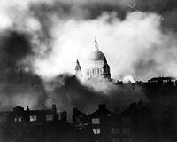 11x14 World War Ii Photo: Saint St. Paul's Cathedral During London Raid