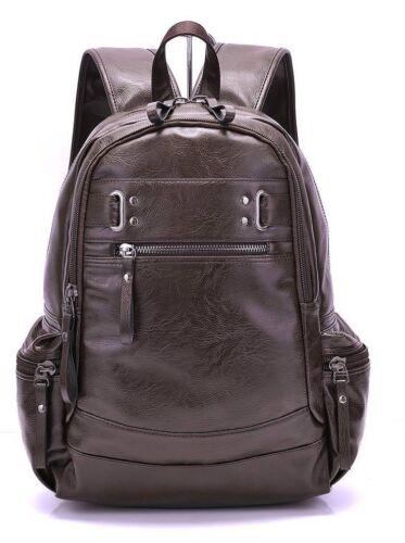 Men/'s Leather Business Backpacks Durable Vintage Style Multiple Pockets Softback