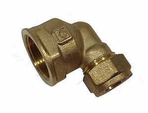 15mm-Compression-x-3-4-Inch-BSP-Female-Elbow-Brass-Plumbing-Fitting