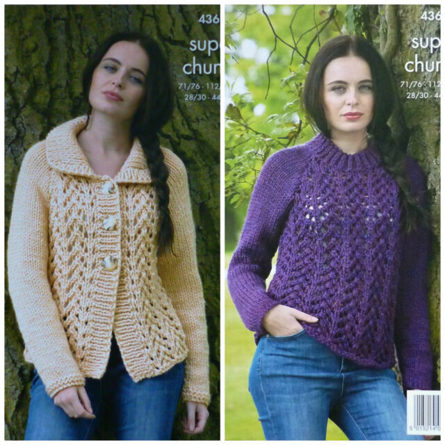 be8f445d8cf1 King Cole 4361 Knitting Pattern Cardigan and Sweater in Big Value ...