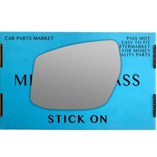 Left Passenger side wing door mirror glass for Nissan Pulsar 2014-On