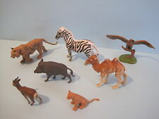 X7 Surtidos Britains Plástico Zoo Animales Camello Cebra Eagle Tiger Boar Etc