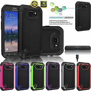 For Samsung Galaxy S6 Active/Edge Shockproof Rugged Combo Rubber Hard Case Cover