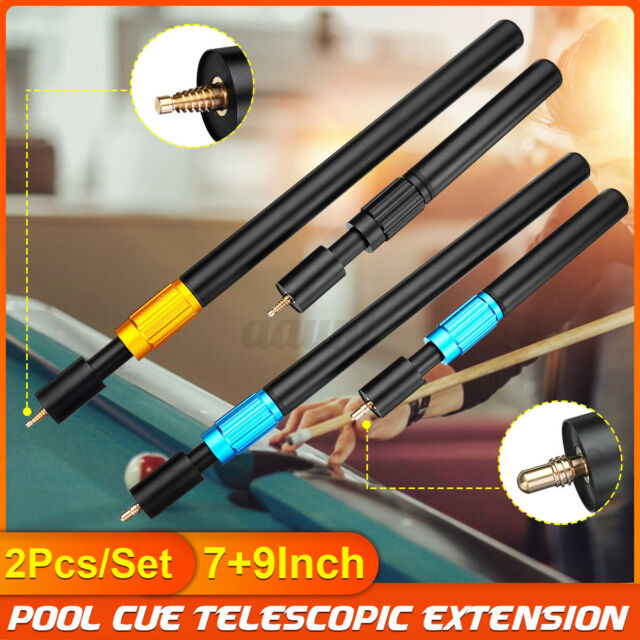 Pool Cue extensions Set of Snooker Small Spiralock