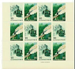 JAPAN-STEAM-TRAIN-BLOCK-MNH-GIAPPONE-TRENO-A-VAPORE-8620