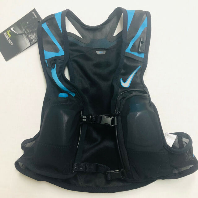Nike Kiger Trail Running Vest Black Blue NRL71-018 Unisex Size Small