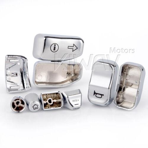 EFI FLHR US STOCK handlebar switch cap 11pcs chrome for 16-18 Harley Road King