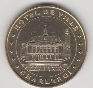 -- 2000 COIN TOKEN JETON MONNAIE DE PARIS- BELGIQUE N°4 HOTEL DE VILLE CHARLEROI - France - Année: 2000 Thme: Patrimoine culturel Type: Monnaie de Paris - France