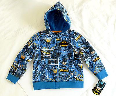 BRAND NEW BATMAN 2T Zipper Hooded Sweatshirt Hoodie Sweater RARE DC Comics Joker