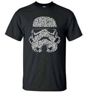 Star-Wars-Darth-Vader-StormTrooper-Black-Speckled-Men-039-s-Graphic-T-Shirt-New