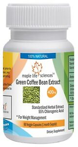 Green Coffee Bean Extract Capsules 55 Chlorogenic Acid Pure High Quality Cga Ebay