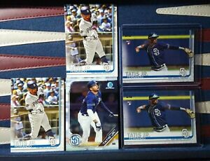 Fernando-Tatis-Jr-2019-Topps-Series-2-410-Rookie-Card-Lot-x2-US56-x2-Chrome-x1