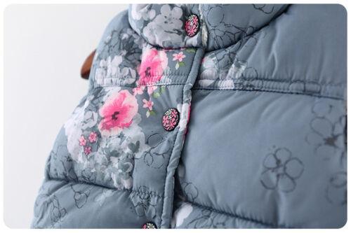 Kids Baby Girls Winter Printed Vest Hoodies Waistcoat Coat Jacket Gilet Outwear
