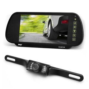 NEW-Pyle-PLCM7200-7-034-Backup-Mirror-Monitor-License-Plate-Night-Vision-Camera