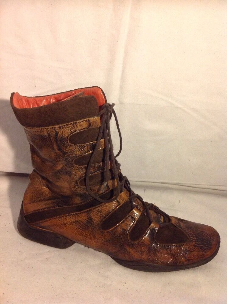 Via Vai Spirit Brown Ankle Leather Boots Size 40