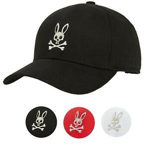Psycho-Bunny-Men-039-s-Premium-Cotton-Heritage-Strapback-Baseball-Hat-Cap