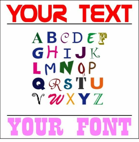 "6/"" Your Text Custom Font Decal//Sticker Car//Truck//Window//ATV//Motorcycle//Laptop"